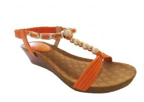 Orange Pearl Auyi Wedge Heel