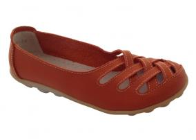 Orange Auyi Walk Shoe