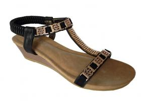 Black Auyi Wedge Heel