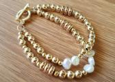 Gold & Fresh Water Pearl Bracelet